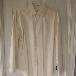 16.5 34-35 Cream dress shirt